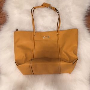 Mustard Yellow TUMI Voyager Faux Leather Tote
